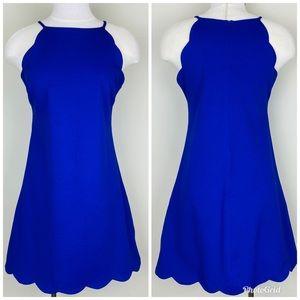 love...ady    Mini Shift Dress; Scalloped; Size M